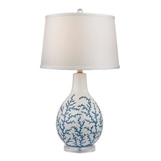 Dimond Sixpenny Blue Coral White Table Lamp