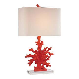 Dimond Red Coral Red Table Lamp