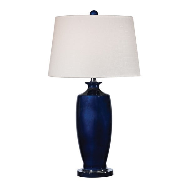 Dimond Halisham Ceramic Navy Blue Table Lamp