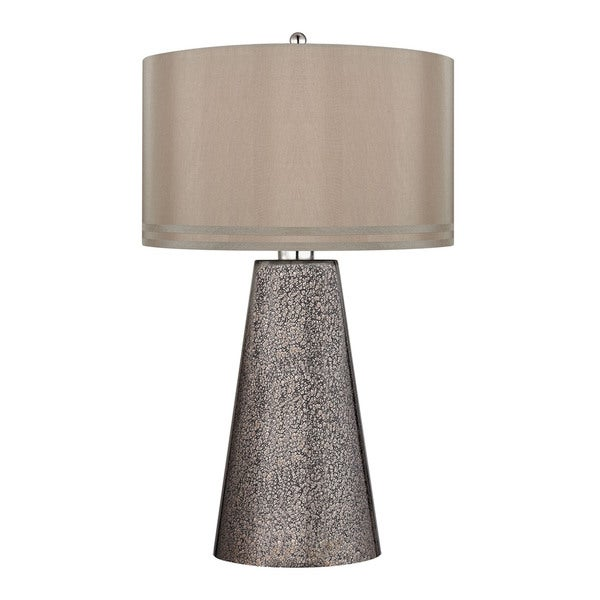 Dimond Stafford Heavy Metal Mercury Mosaic Table Lamp