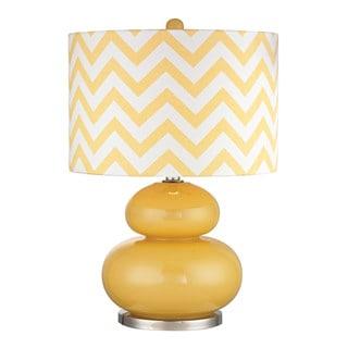 Dimond Tavistock Sunshine Yellow Polished Nickel Table Lamp