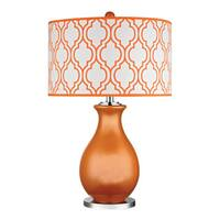 Dimond Thatcham Tangerine Orange Polished Nickel Table Lamp