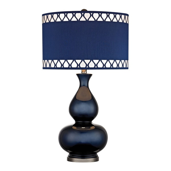 Dimond Heathfield Gl Navy Blue Table Lamp