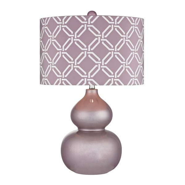 Dimond Ivybridge Ceramic Lilac Luster Table Lamp