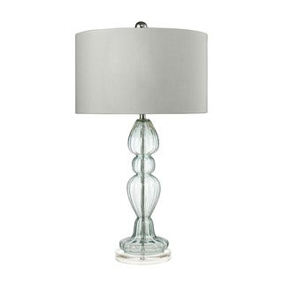 Dimond Ribbed Glass Light Blue Table Lamp
