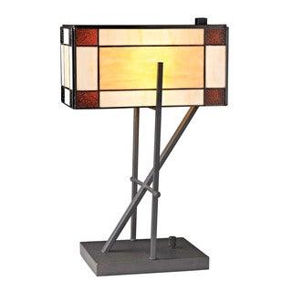 Dimond Fort William Tiffany Glass Matte Black Table Lamp
