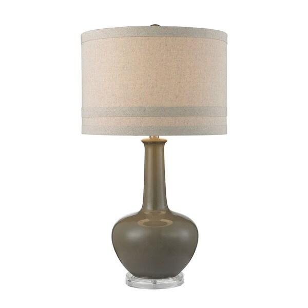 Dimond Ceramic Grey Glaze Acrylic Table Lamp