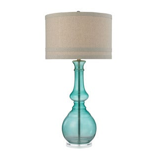 Dimond Tall Glass Seaspray Green Table Lamp