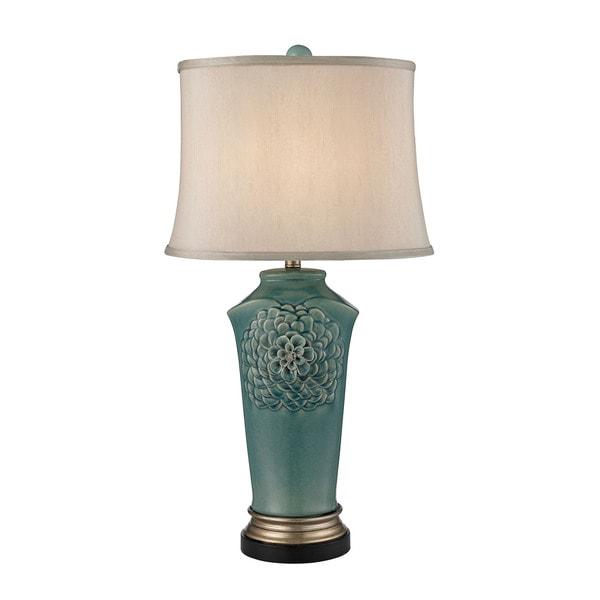 Dimond Organic Flowers Seafoam Table Lamp