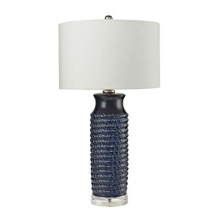 "Dimond Lighting Wrapped Rope Navy Blue Table Lamp - 16""w x 16""d x 30""h"