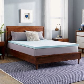 Link to Slumber Solutions Choose Your Comfort 2-inch Gel Memory Foam Mattress Topper - Blue Similar Items in Mattress Pads & Toppers