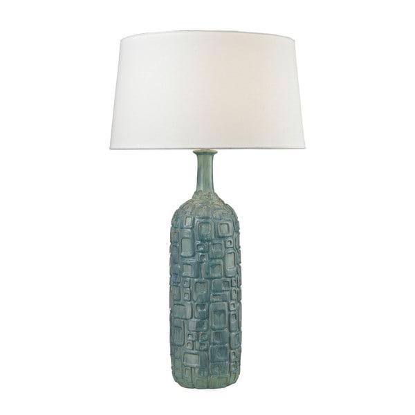 Dimond Cubist Ceramic Bottle Blue Lamp