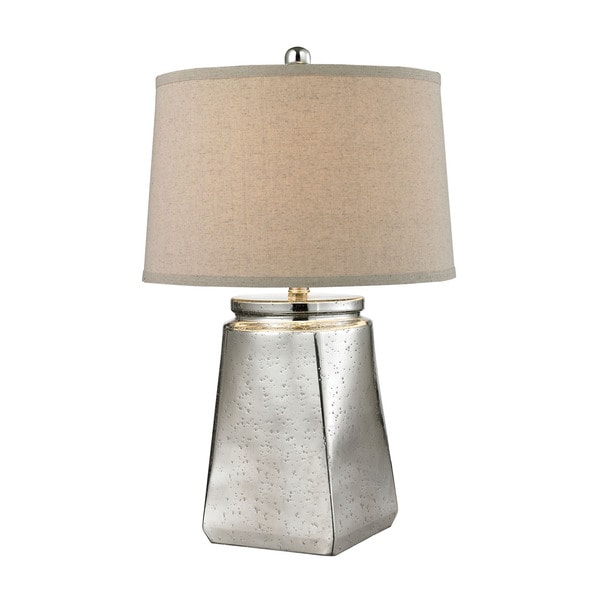 Dimond Tapered Square Silver Mercury Table Lamp