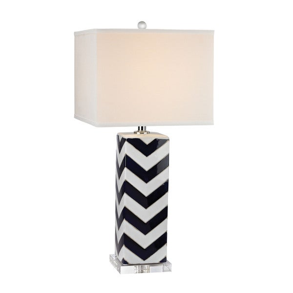 Dimond Chevron Navy Table Lamp