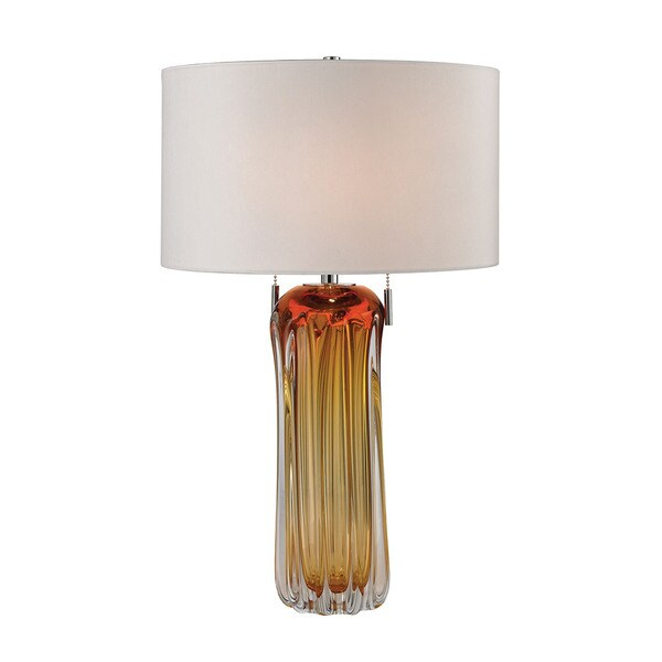 Dimond Ferrara Free Blown Glass Amber Table Lamp