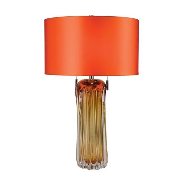 Dimond Ferrara Blown Glass Amber Table Lamp