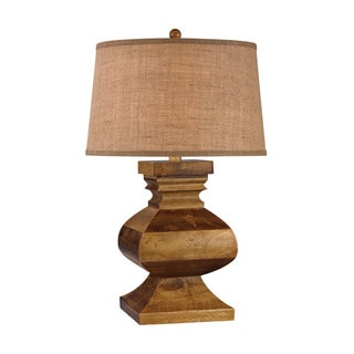 Dimond Carved Wood Post Lamp
