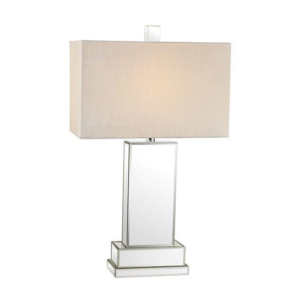 Dimond Mirror Block Table Lamp