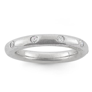 Isla Simone Sterling Silver Cubic Zirconia Spinning Ring