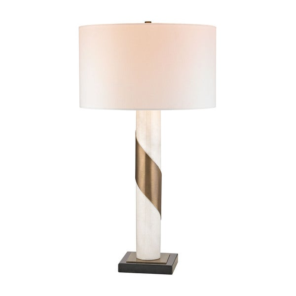 Dimond Brass Strapped Marble Lamp