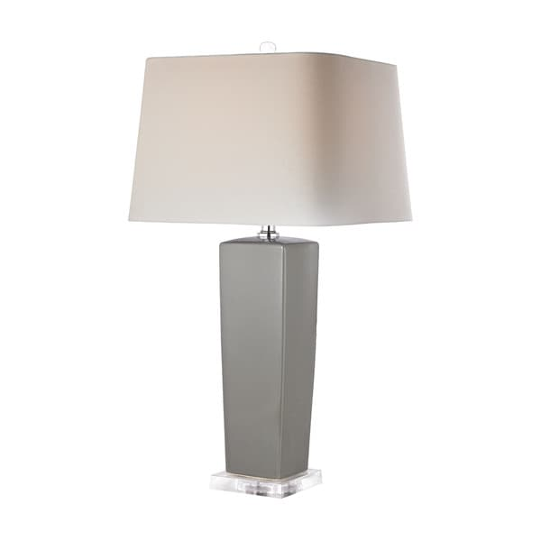 Dimond Tapered Grey Ceramic Lamp
