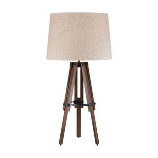 Dimond Wooden Brace Tripod Lamp