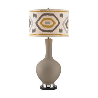 Dimond Matte Grey Patterned Shade Lamp