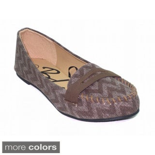 Blue Women's 'Katia' Canvas Pattern Design Flat