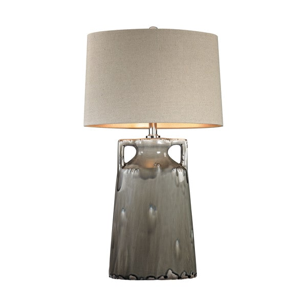 Dimond Grey Reaction Glaze Urn Lamp
