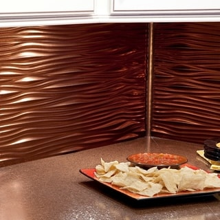Fasade Waves Oil Rubbed Bronze 18-square Foot Backsplash Kit