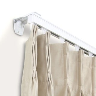 heavy duty white wall or ceiling curtain track room divider