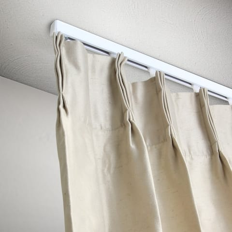 InStyleDesign Heavy Duty White Ceiling Curtain Track / Room Divider