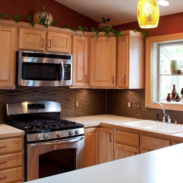 Kitchen Backsplash Kit: Shop Fasade Square Argent Bronze 18-square Foot Backsplash