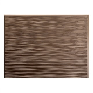 Fasade Ripple Argent Bronze 18-square Foot Backsplash Kit