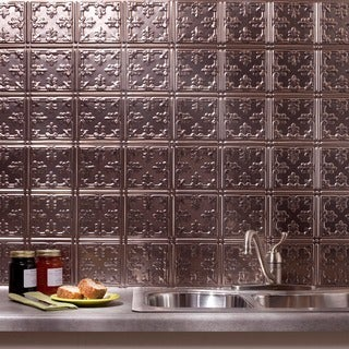 Fasade Traditional Style #10 Brushed Nickel 18-square Foot Backsplash Kit