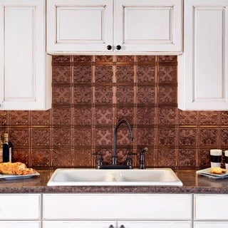 Fasade Traditional Style #10 Oil Rubbed Bronze 18-square Foot Backsplash Kit