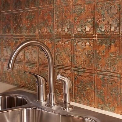 Fasade Traditional Style #10 Copper Fantasy 15-square Foot Backsplash 15 Sq Ft Kit