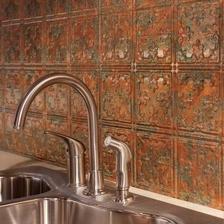 Fasade Traditional Style #10 Copper Fantasy 18-square Foot Backsplash Kit