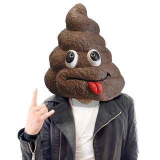 Latex Novelty Poop Emoji Mask
