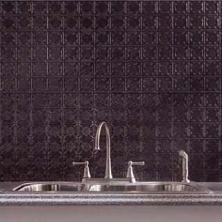 Fasade Traditional Style #6 Smoked Pewter 18-square Foot Backsplash Kit