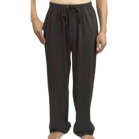 Leisureland Men's Solid Jersey Cotton Knit Pajama Pants