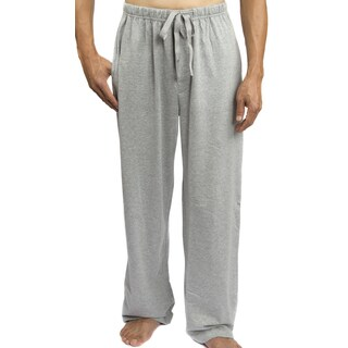 Leisureland Men's Solid Jersey Cotton Knit Pajama Pants