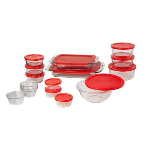 Pyrex 28-Piece Prep Bake and Store set