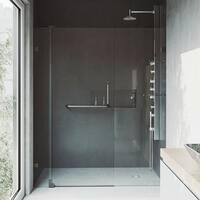 VIGO Pirouette 66-inch Pivot Shower Door Clear/Antique Rubbed Bronze