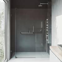 VIGO Pirouette 60-inch Pivot Shower Door Clear/Antique Rubbed Bronze