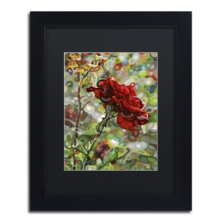 Mandy Budan 'Last Rose Of Summer' Black Framed Canvas Art