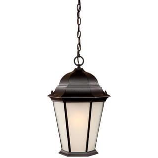 Richmond Collection Hanging Lantern 3-Light Outdoor Matte Black Light Fixture