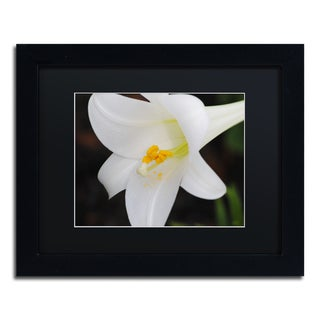 Monica Mize 'Easter' Black Framed Canvas Art