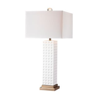 Dimond White Stud Ceramic Lamp