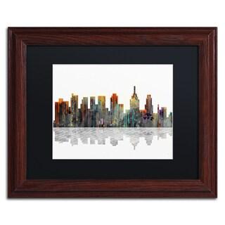 Marlene Watson 'New York New York Skyline' Wood Framed Canvas Art